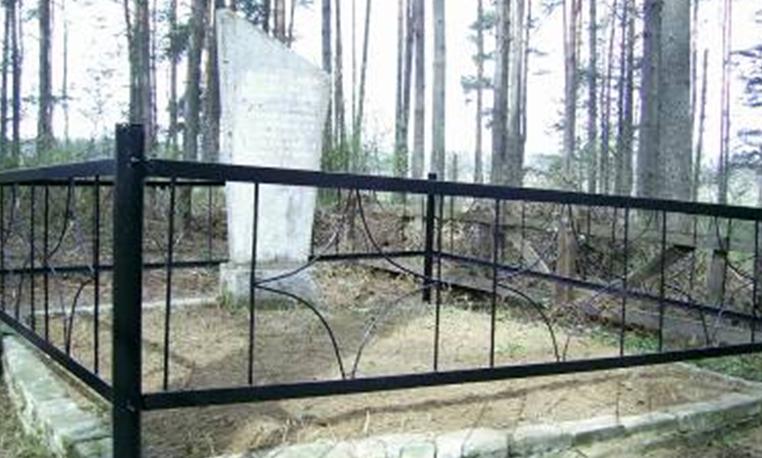 д. Старая Ельня Краснопольского р-на. Памятник, установленный на братской могиле, в которой похоронено 20 советских воинов, погибших в годы войны.