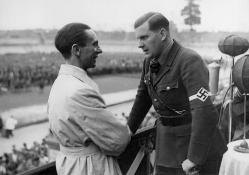 Бальдур Ширах и Йозеф Геббельс. 1938 г.