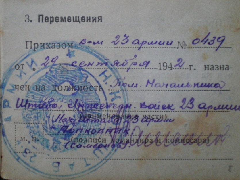 Удостоверение личности начсостава Красной Армии.