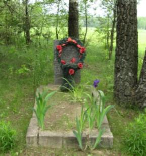 д. Сущи Чауского р-на. Братская могила в лесу у села.
