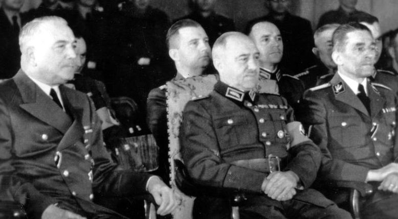Константин Хирль, Костянтин фон Нейрат и Карл Франк. 1941 г.