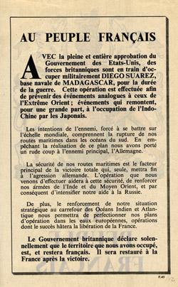Обращение к народу Франции.