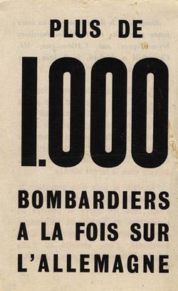 Больше 1000 бомбардировщиков против одного.
