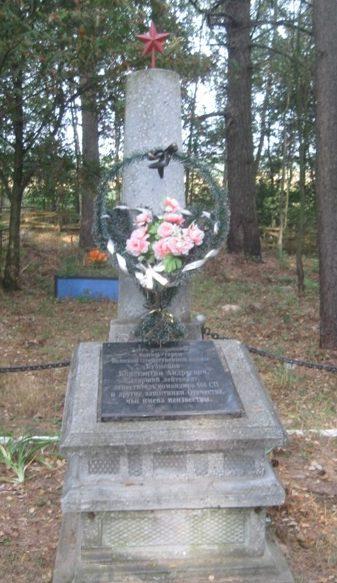 д. Концы Кричевского р-на. Обелиск установлен на братской могиле воинов, погибших в 1943 году и умерших от ран в госпитале.