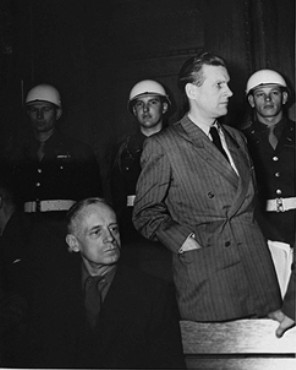 Бальдур Ширах на Нюрнберском процессе. 1946 г.