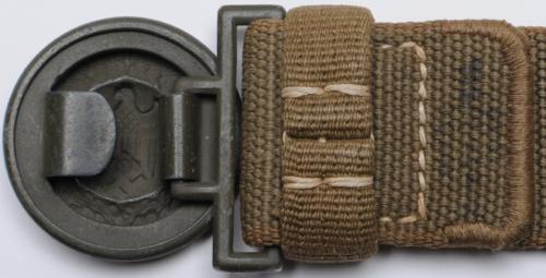 Тропический ремень и пряжка офицерского состава Вермахта.