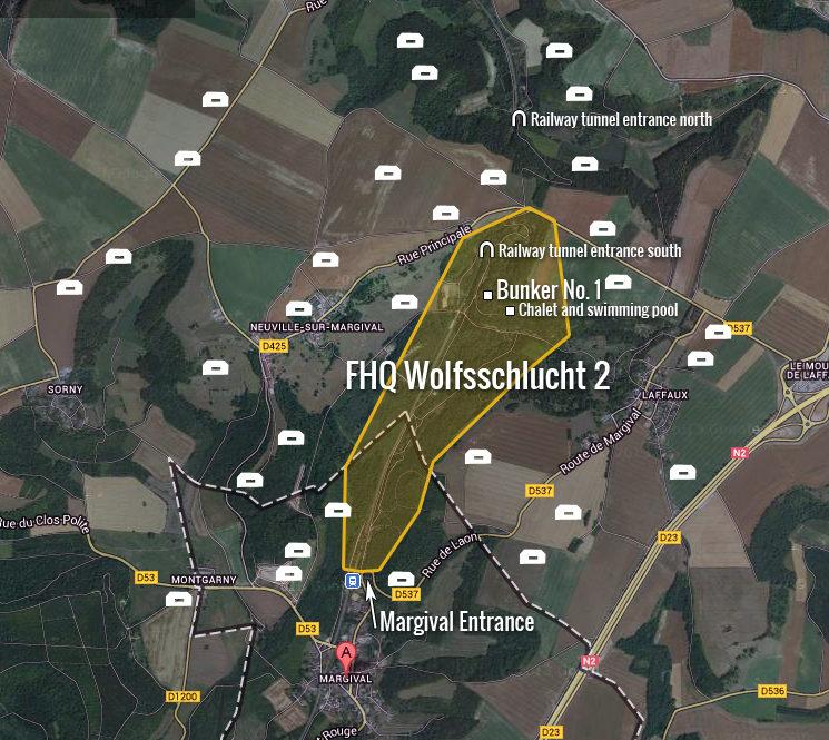 Карта района «Wolfsschlucht II».