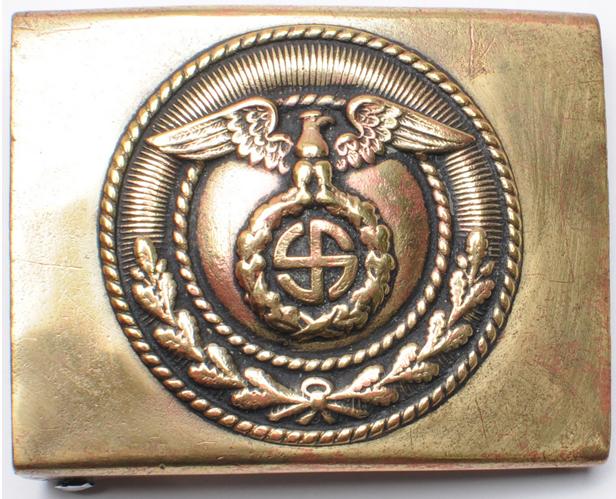 Пряжка латунная штурмовых отрядов СА 2-го типа с крестом Тулия.