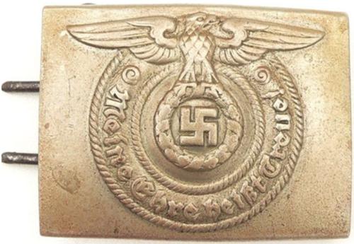 Неуставная латунная пряжка рядового и унтер-офицерского состава СС.