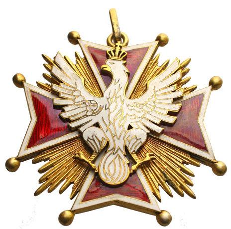 Аверс ордена Белого Орла.