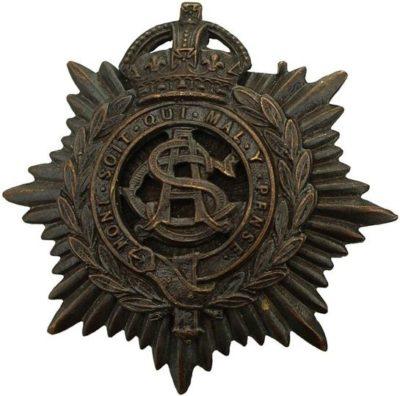 Солдатский полковой знак 1-го полка легкой кавалерии.