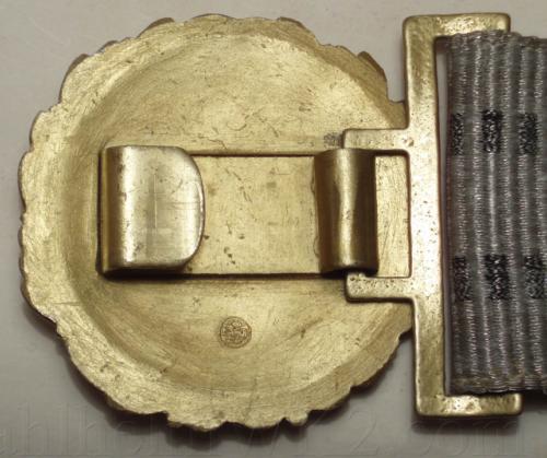 Парадный ремень и золотистая пряжка офицера плавсостава Кригсмарине, диаметром 58 мм.