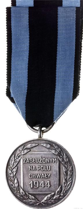Реверс Серебряной медали «Заслуженным на Поле Славы».