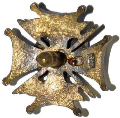Аверс и реверс полкового знака 2-го Рокитнянского полка легкой кавалерии.