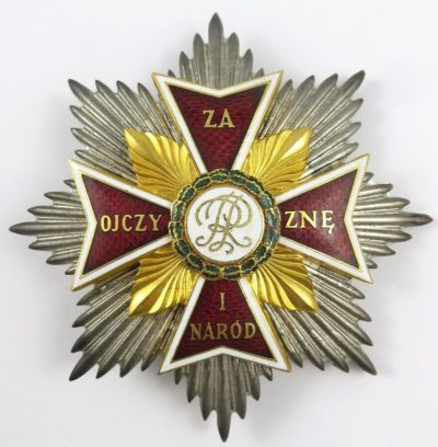 Аверс звезды ордена Белого Орла.