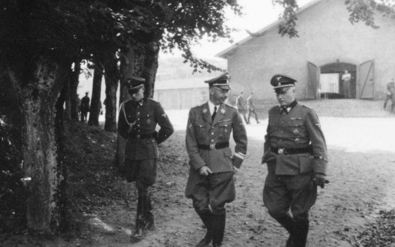 Зепп Дитрих и Генрих Гиммлер. Франция. 1940 г.