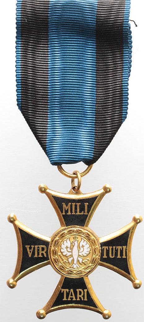 Аверс Рыцарского крест ордена Виртути Милитари.