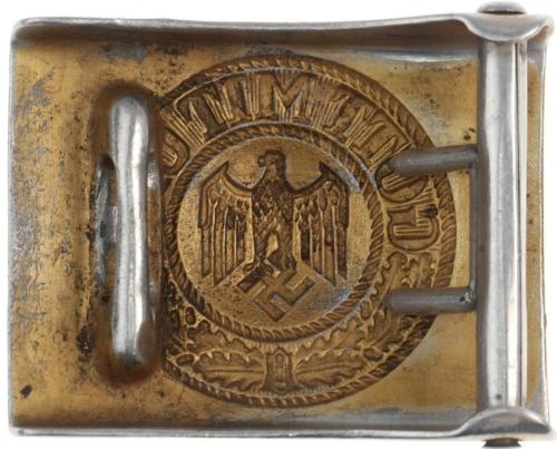 Пряжка стальная рядового плавсостава Кригсмарине.