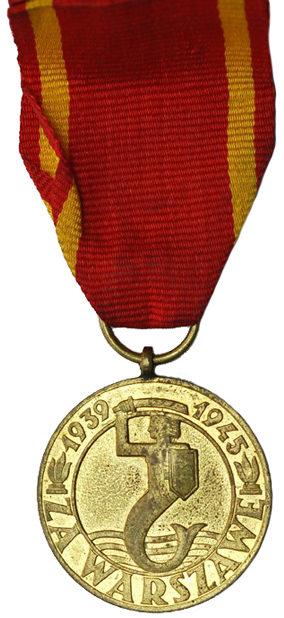 Аверс медали «За Варшаву».