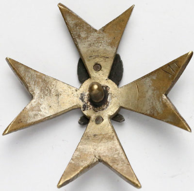 Аверс и реверс офицерского памятного знака конной артиллерии.
