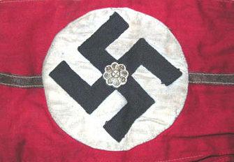 Нарукавная повязка Ortsgruppenleiter в 1932-1933 годах.