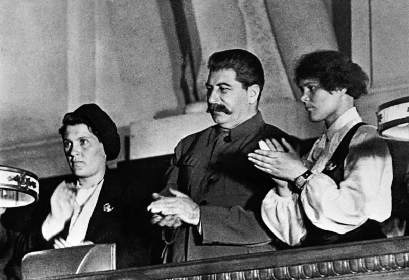 Сталин на съезде комсомола. 1936 год.
