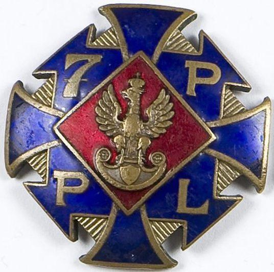 Аверс и реверс полкового знака 7-го пехотного полка.