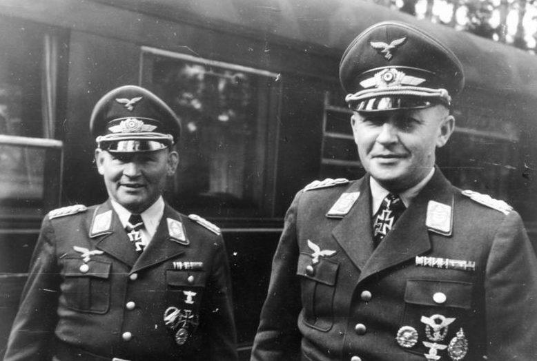 Бернхард Рамке и Курт Штудент. 1941 г.