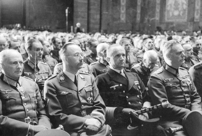 Ганс Клюге, Генрих Гиммлер, Карл Денниц и Вильгельм Кейтель. 1944 г.
