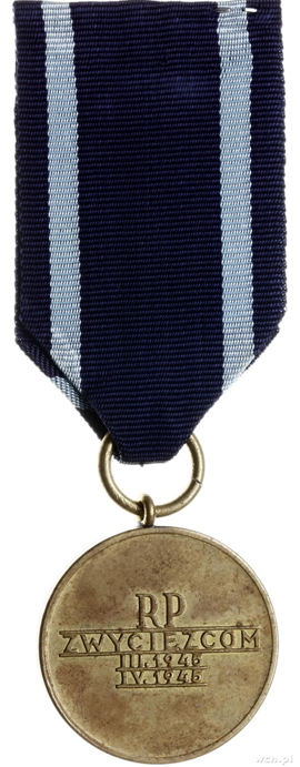 Реверс медали «За Одер, Нейсе, Балтику».