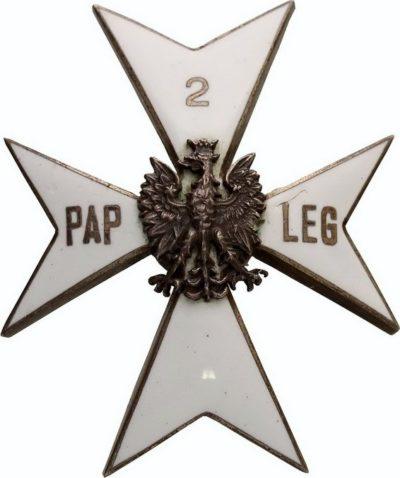 Офицерский полковой знак 2-го легкого артиллерийского полка образца 1929 г.