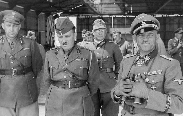 Георг Риттер и Йозеф (Зепп) Дитрих. 1941 г.