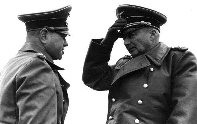 Ганс Клюге и Феликс Швальбе. 1944 г.