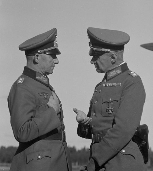 Альфред Йодль и генералом пехоты Вальдемар Эрфурт. 1941 г.