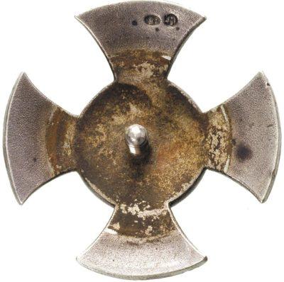 Аверс и реверс офицерского полкового знака 8-го пехотного полка.