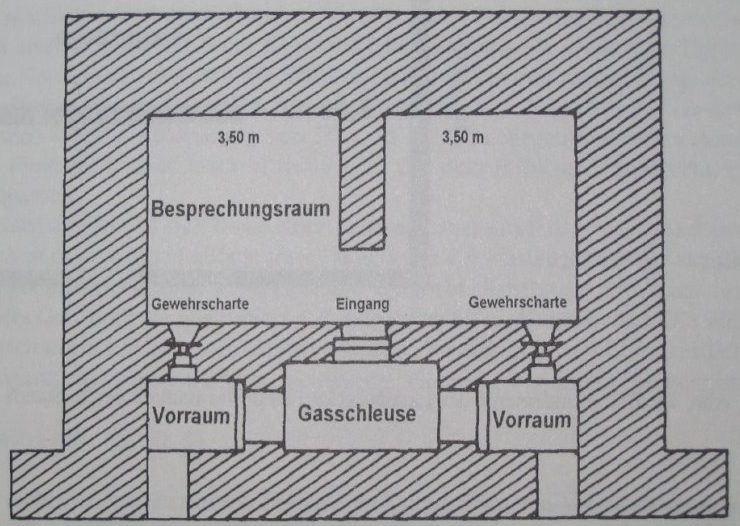 Поэтажные планы бункера фюрера.