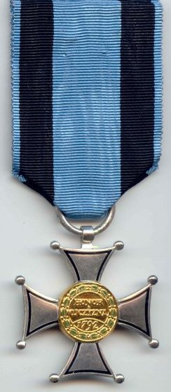 Реверс Серебряного креста ордена Виртути Милитари.