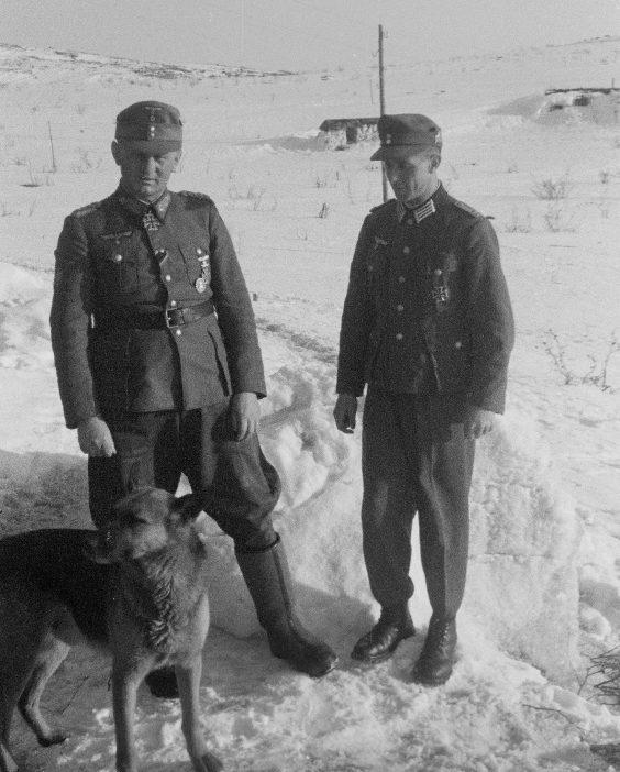 Георг Риттер в Петсамо. 1943 г.