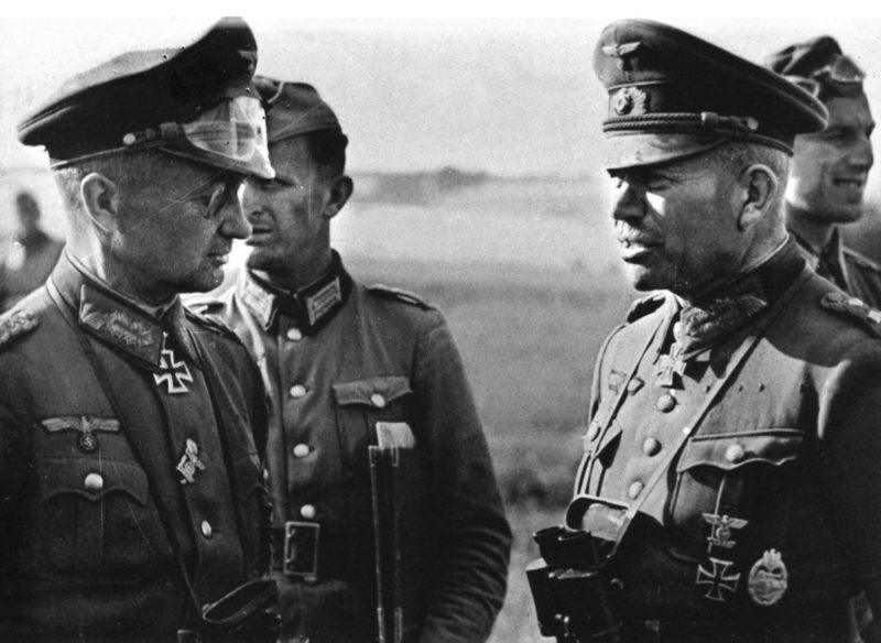 Вальтер Модель, Отто Мориц и Гейнц Гудериан. 1942 г.