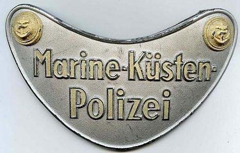 Горжет морской береговой полиции.