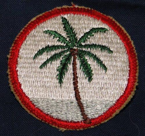 Нарукавная нашивка сотрудников штаб-квартиры войск на Гуаме.