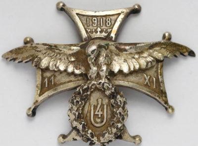 Солдатский полковой знак 4-го уланского полка.