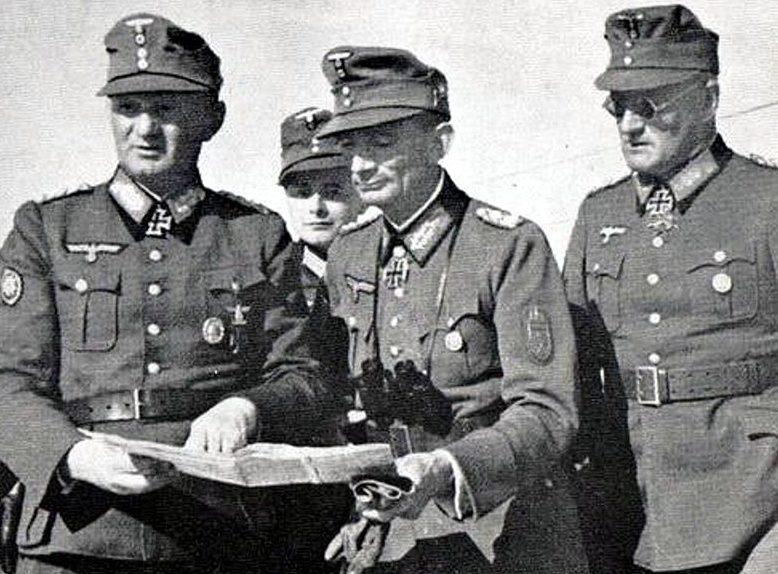 Георг Риттер, Эдуард Диетл и Фердинанд Шорнер. 1943 г.