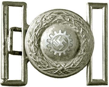 Серебристая пряжка офицеров DAF образца 1942 г.