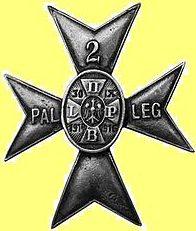 Солдатский полковой знак 2-го легионерского полка легкой артиллерии образца 1937 г.