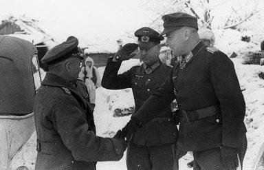 Вальтер Модель, Оскар Боидж и Ричард Хайдрич. 1942 г.
