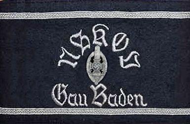 Нарукавная повязка члена организации гау Баден.