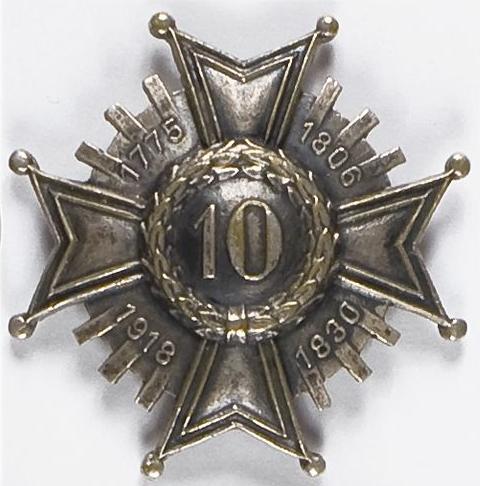 Солдатский полковой знак 10-го пехотного полка.