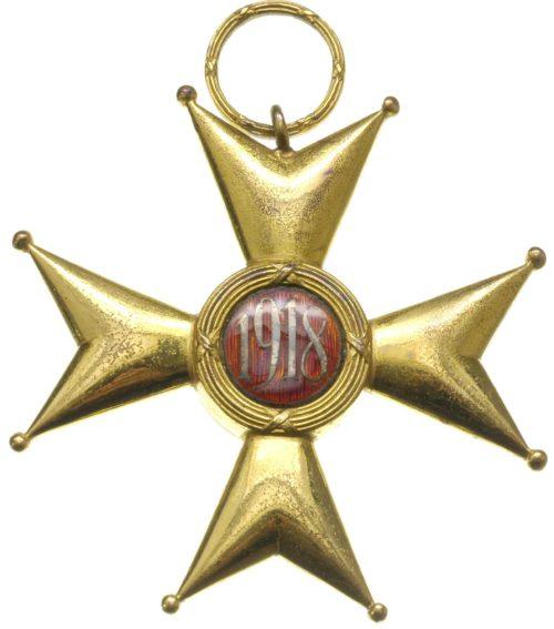 Реверс Большого Креста ордена Возрождения Польши.