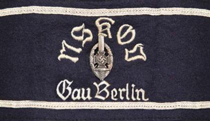 Нарукавная повязка члена организации гау Берлин.